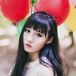 猫耳气球软妹萌少女图片
