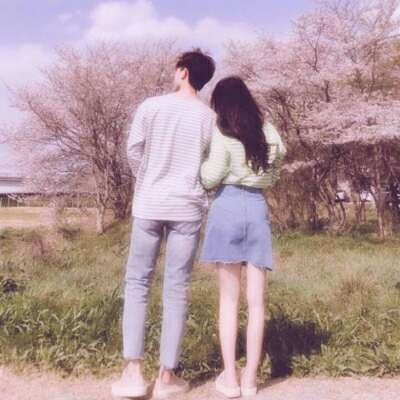 情侣头像辞桉:真人情头/有点可爱/唯美