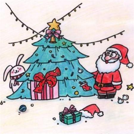 圣诞节头像图片_好看的圣诞节简笔画图片