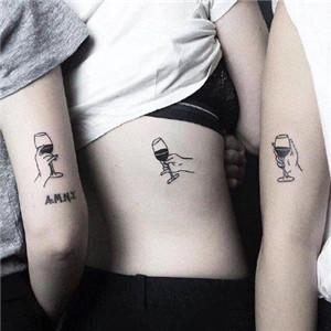 闺蜜头像有纹身的 适合姐妹闺蜜的小清新纹身图