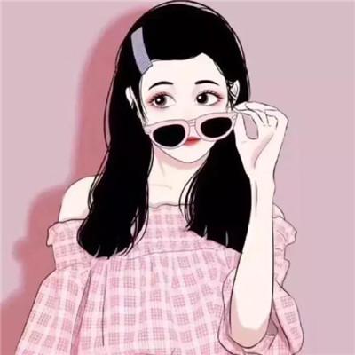 手绘头像女生唯美简约 可爱又漂亮的长发短发女
