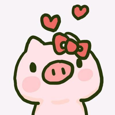 2019猪年最火微信头像 卡通猪情侣头像一男一女