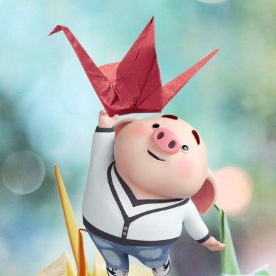 2019猪年微信头像 卡通猪头像呆萌高清无水印12