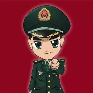 军人QQ和微信头像都可以用的卡通军人图片