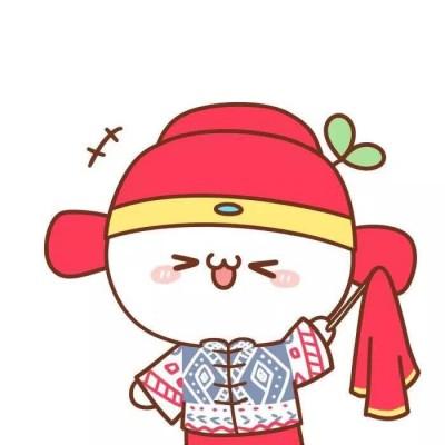 2019超可爱呆萌卡通qq情侣头像一男一女
