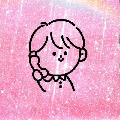 手绘头像情侣简单彩色 超级好看又漂亮的卡通小