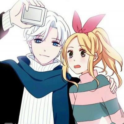 双人卡通情侣头像图片一人一张 简简单单的爱才