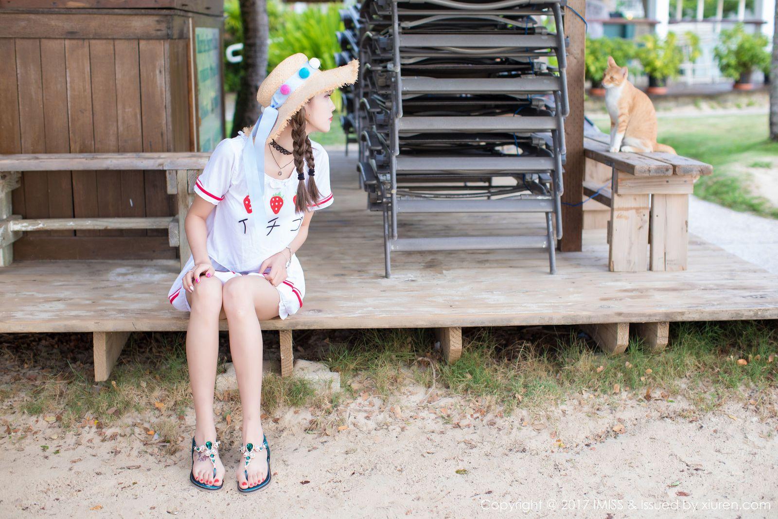 [IMISS爱蜜社] 香车美女杨晨晨sugar阳光沙滩比基尼塞班旅拍