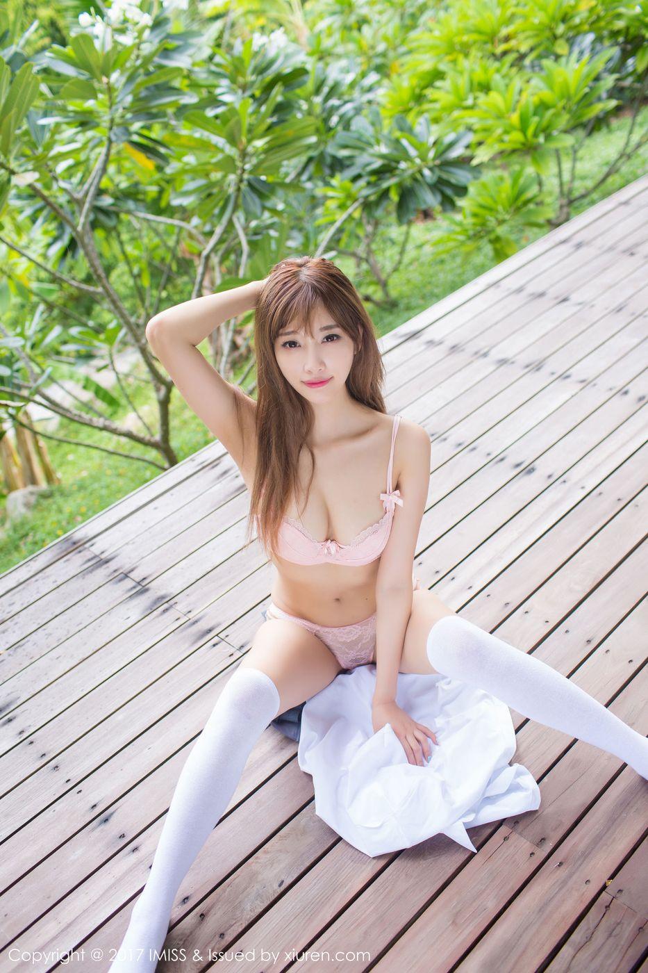 [IMiss爱蜜社] 甜美女神杨晨晨sugar室外校服内衣制服诱惑苏梅岛旅拍