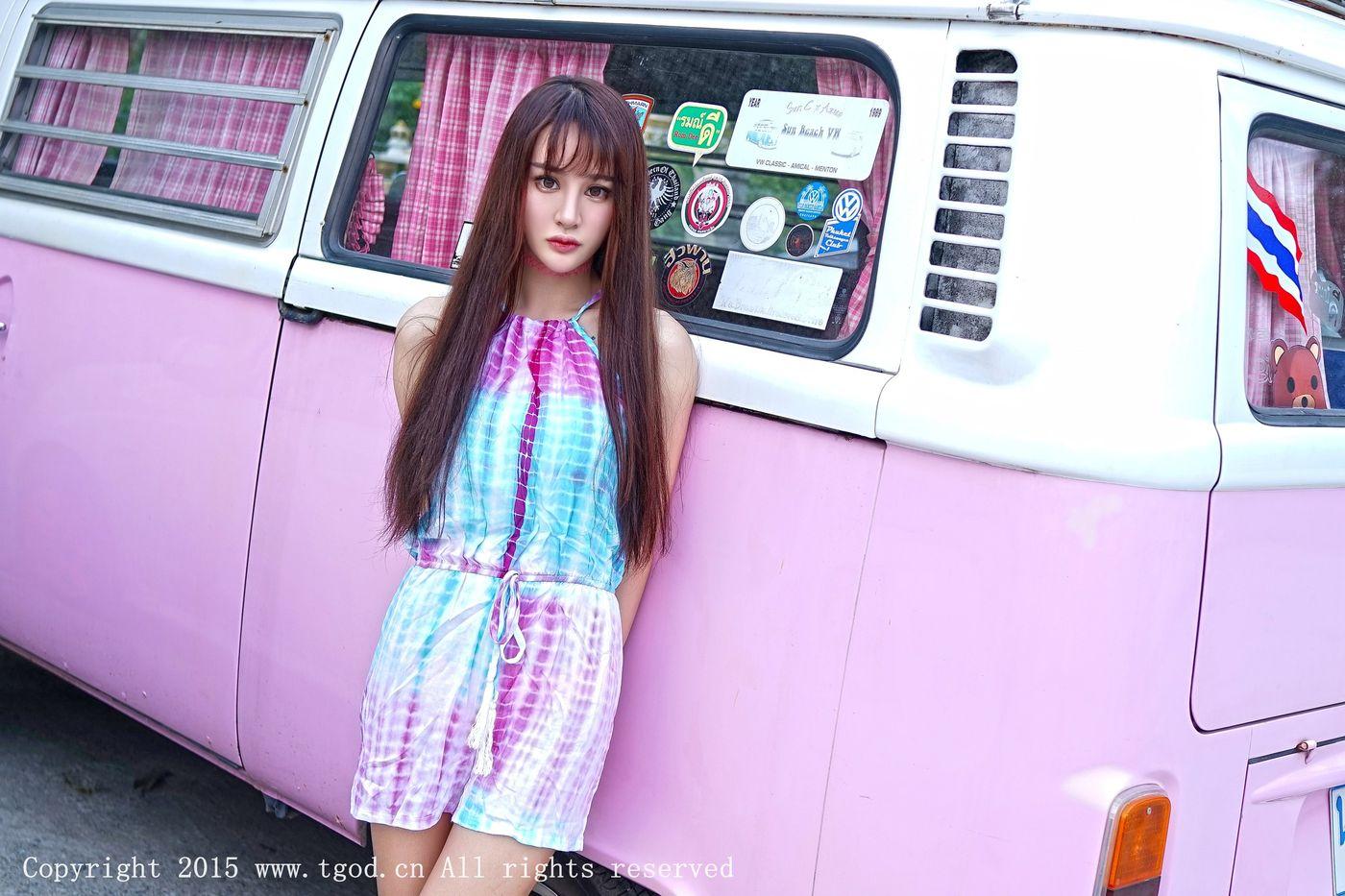 [TGOD推女神] 美女模特Cheryl青树完美身材普吉岛清新街拍第一刊