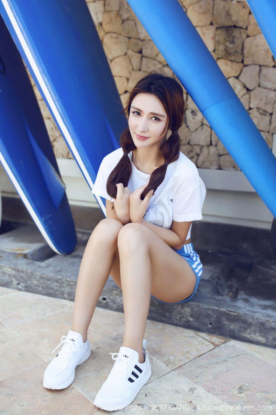 [CANDY糖果画报] 混血美女模特伊莉娜巴厘岛沙滩甜美旅拍第一套 Vol.024