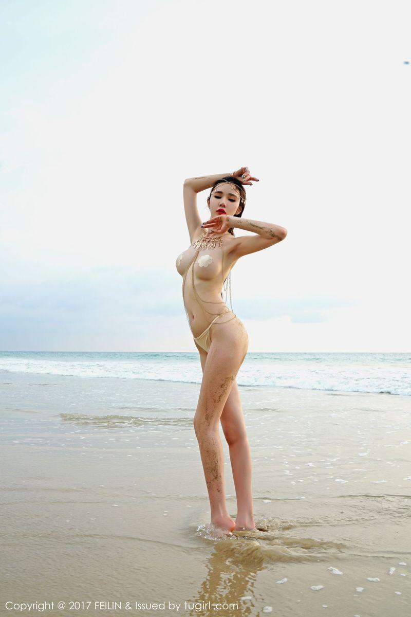 [FEILIN嗲囡囡] 性感女神萌琪琪Irene倾情演绎沙滩美女人体泰国旅拍 Vol.082