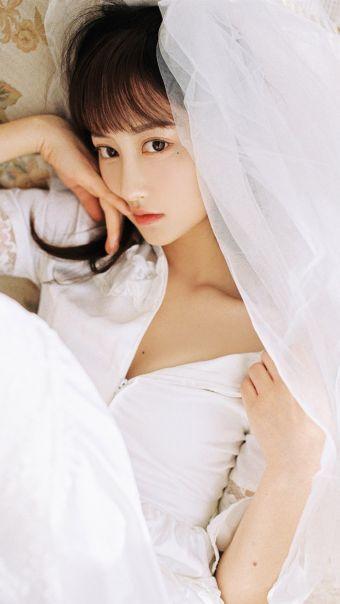 气质美女婚纱写真