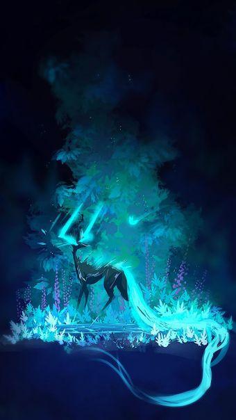 蓝色系动漫场景