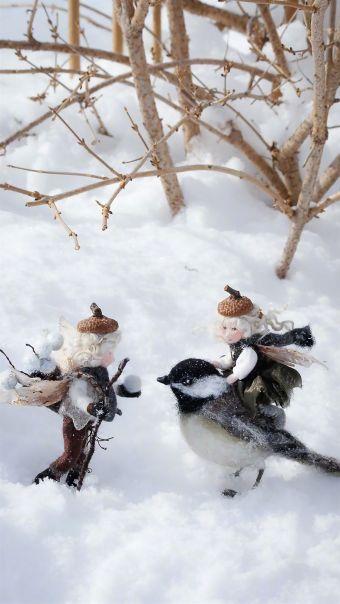 精灵玩偶与森林动物