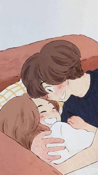 甜蜜情侣插画