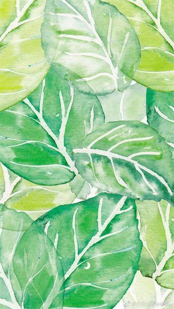 花卉绿植小图案平铺