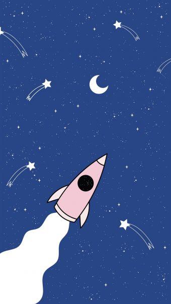 宇宙元素卡通背景