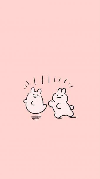 粉色卡通兔子背景