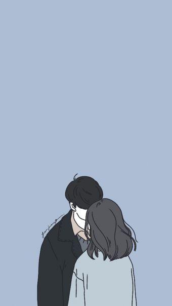 韩国简约人像插画