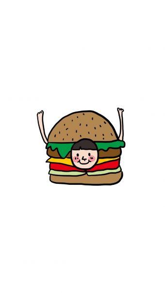 简约美食手绘卡通