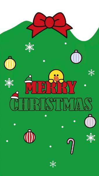 可爱line圣诞背景